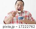 食事を摂る中年男性 17222762