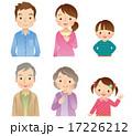 アイコン セット 三世代家族のイラスト 17226212