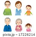 アイコン セット 三世代家族のイラスト 17226214