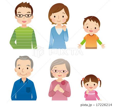 三世代家族 6人 アイコン 17226214