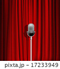 かーてん カーテン 赤のイラスト 17233949