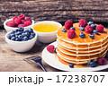 ブルーベリー パンケーキ シロップの写真 17238707