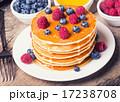 ブルーベリー パンケーキ シロップの写真 17238708