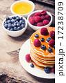 ブルーベリー パンケーキ シロップの写真 17238709