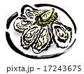 料理 食べ物 生牡蠣のイラスト 17243675