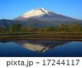 岩手山と水田 17244117