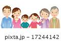 三世代家族 横並び 仲良しのイラスト 17244142
