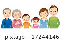 三世代家族 横並び 仲良しのイラスト 17244146