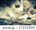 War with a large sea monster - octopus alien 17253005