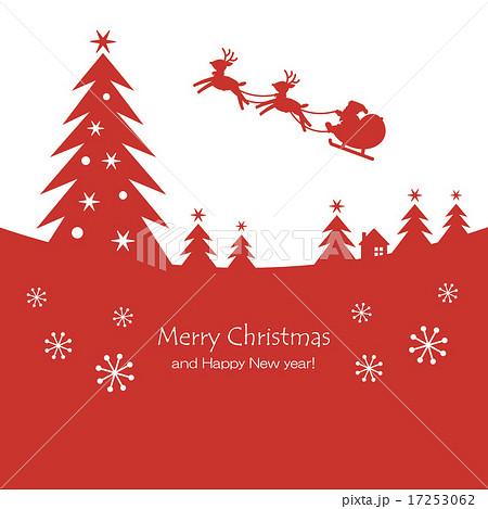 Christmas Night Silhouette Redのイラスト素材