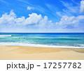 青く透明な海と白い砂浜/種子島 17257782