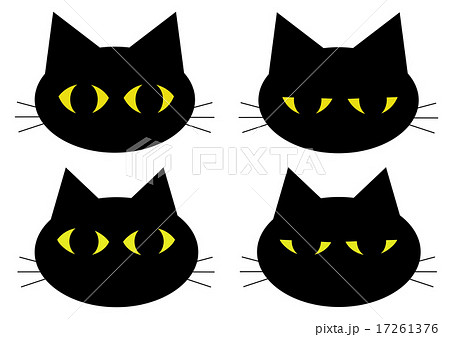 黒猫 顔のイラスト素材 17261376 Pixta