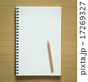 blank spiral notebook and pencil 17269327
