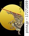 孫悟空 如意棒 はがきテンプレートのイラスト 17271099