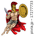 Red Caped Greek Warrior 17277733