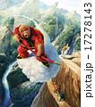 孫悟空が渓谷上空を飛ぶ 17278143