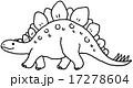 ステゴサウルス モノクロ 17278604