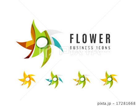 Set of abstract flower logo business iconsのイラスト素材 [17281668] - PIXTA