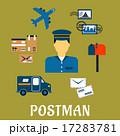 郵便 メールボックス 郵便配達夫のイラスト 17283781
