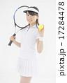 テニスをする女性 17284478