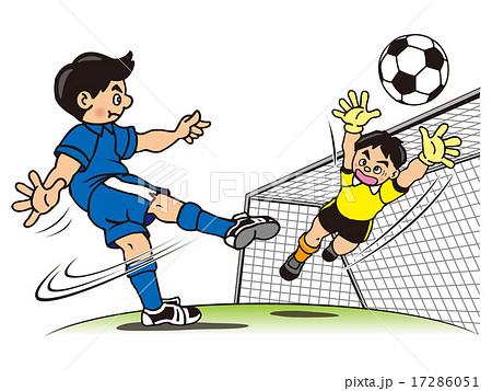 サッカーのイラスト素材 17286051 Pixta