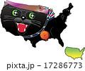 動物地図 アメリカ 黒猫(黒豹) 17286773