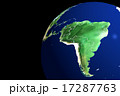 ブラジル中心 南方向より 地球儀CG 17287763