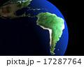 ブラジル中心 アメリカ大陸 地球儀CG 17287764