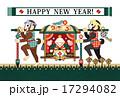 年賀状テンプレート 年賀状 猿のイラスト 17294082