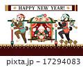 年賀状テンプレート 年賀状 猿のイラスト 17294083