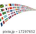 世界の国旗のアーチ 17297652