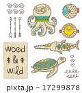 仲間 親しい 木材のイラスト 17299878