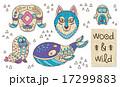 仲間 親しい 動物のイラスト 17299883