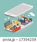 ベクトル 携帯電話 暮らしのイラスト 17304239