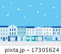 イラスト 雪景色 街並みのイラスト 17305624