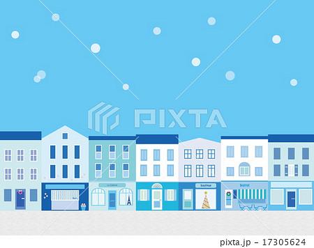 街並み 冬 雪 17305624