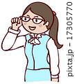 ビジネスウーマン OL 眼鏡のイラスト 17305770