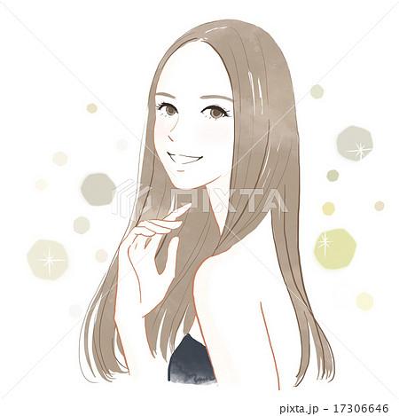 美しい髪の女性のイラスト素材 17306646 Pixta