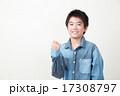 小学生 ガッツポーズ 人物の写真 17308797