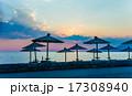 浜辺 夕日 夕焼の写真 17308940