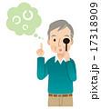 視力検査をする男性 高齢者 17318909