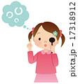 視力検査をする子供 17318912