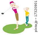 タイトル:ゴルフをする男女 17320901