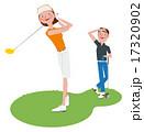タイトル:ゴルフをする男女 17320902