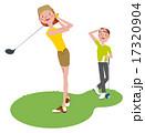 ゴルフをする男女 17320904