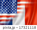 USA and France flag 17321118
