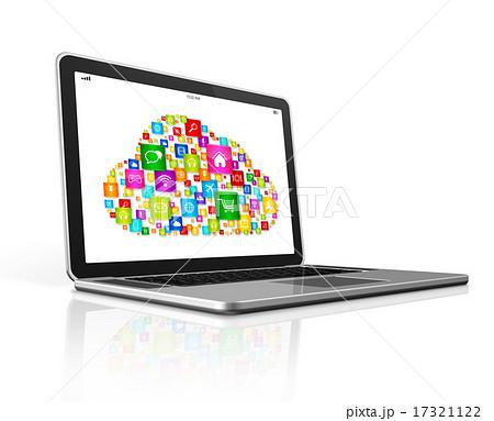 Cloud Computing Symbol on a laptop 17321122