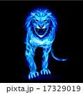 ライオン 青 火のイラスト 17329019