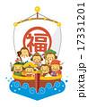 七福神と宝船(猿) 17331201