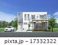 一軒家 戸建住宅 外観のイラスト 17332322